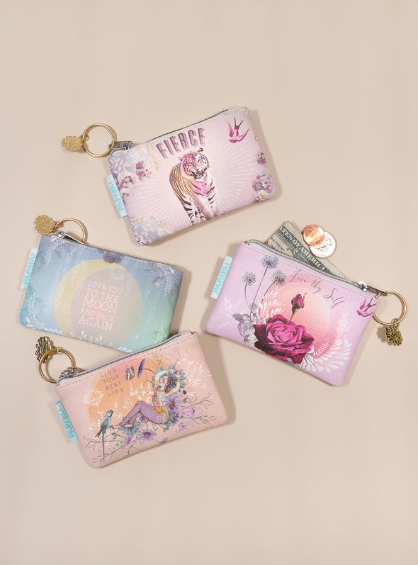 coin purse collection collage