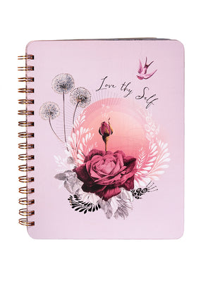 lavender rose spiral notebook