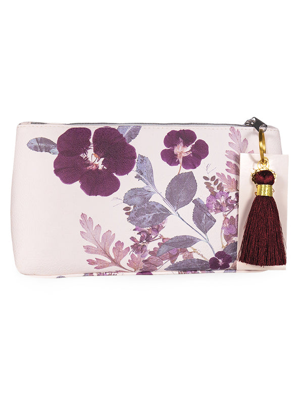 Tassel Pouch, Plum Leaves