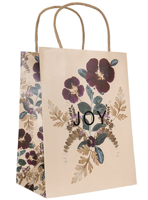 Plum Leaves Gift Bag