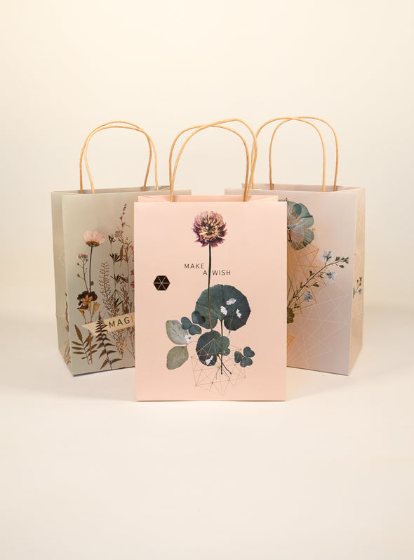 group of 3 sweet clover gift bags