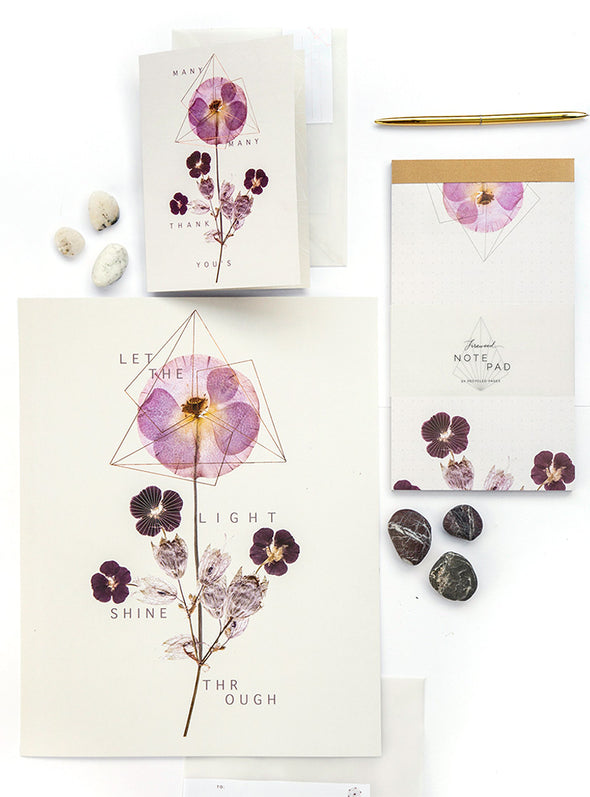 violet glow art and stationery