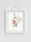 Sweet Stems Art Print in frame