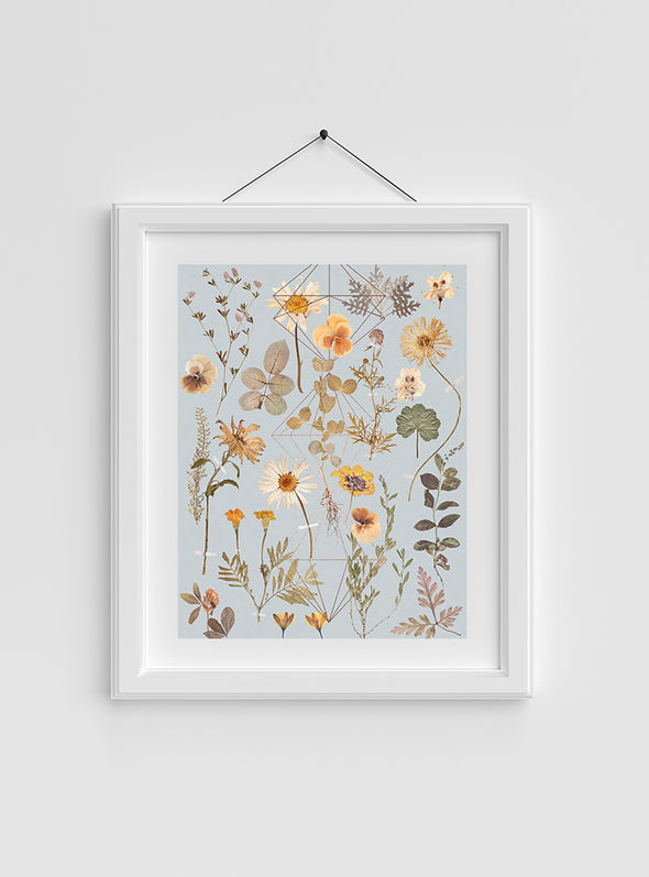 Golden Garden Art Print in frame