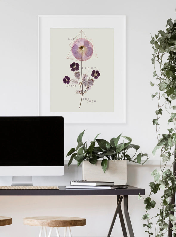 Violet Glow art print on wall