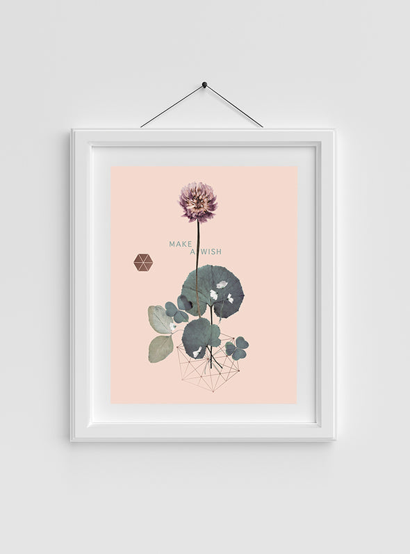sweet clover art print in frame