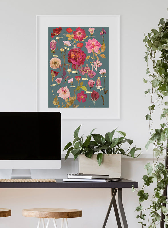 Woman's Garden Print on wall