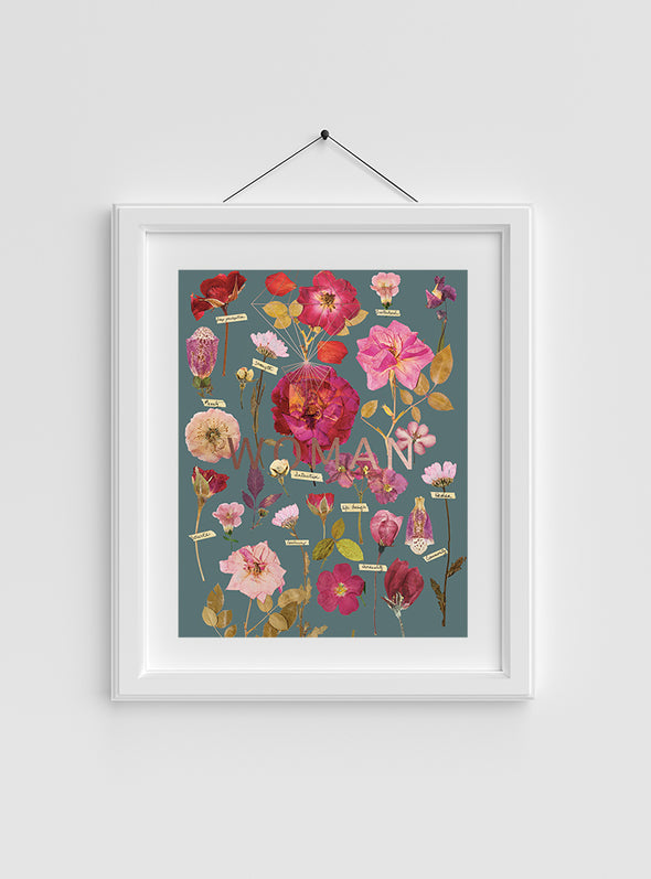 framed example of Woman's Garden Print