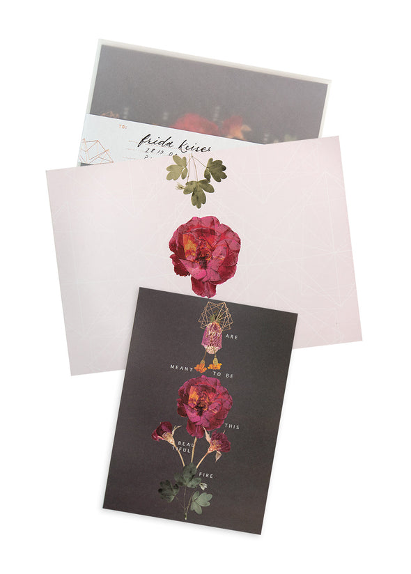 Floral Fire Greeting Card with envelope