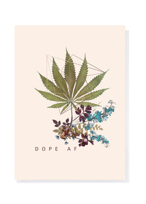 Dope Greeting Card