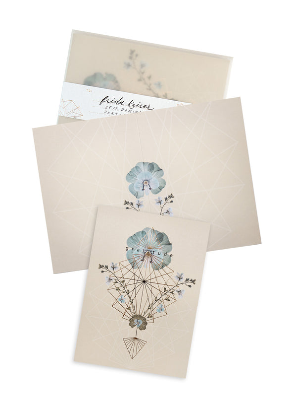 Greeting Card, Gratitude Geo