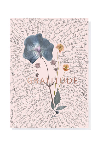 gratitude greeting card floral