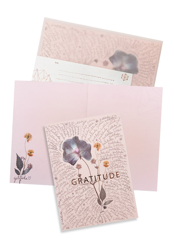 Greeting Card, Gratitude Script