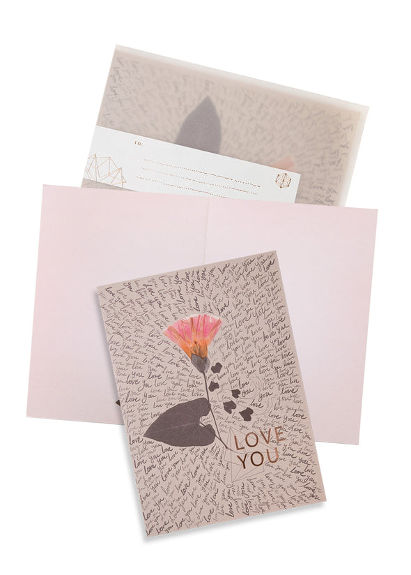 Love You Greeting Card with envelope