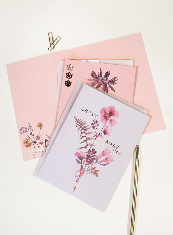 Greeting Card, Pink Petals