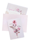 pink petals greeting card and envelopes