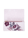 Plum Leaves Tri-Fold Wallet open view