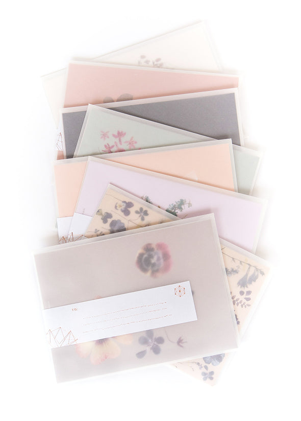 collage of greeting cards on table