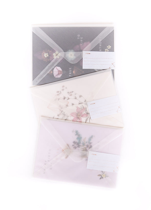 greeting cards in envelopes