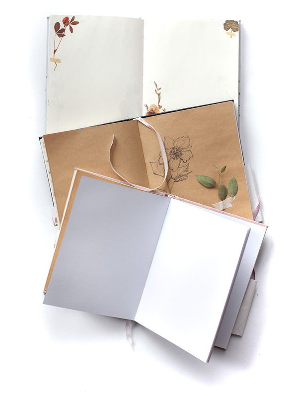 open view of sketchbooks