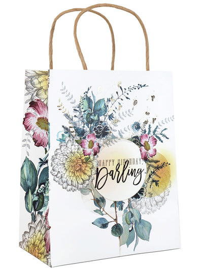 happy birthday darling gift bag front