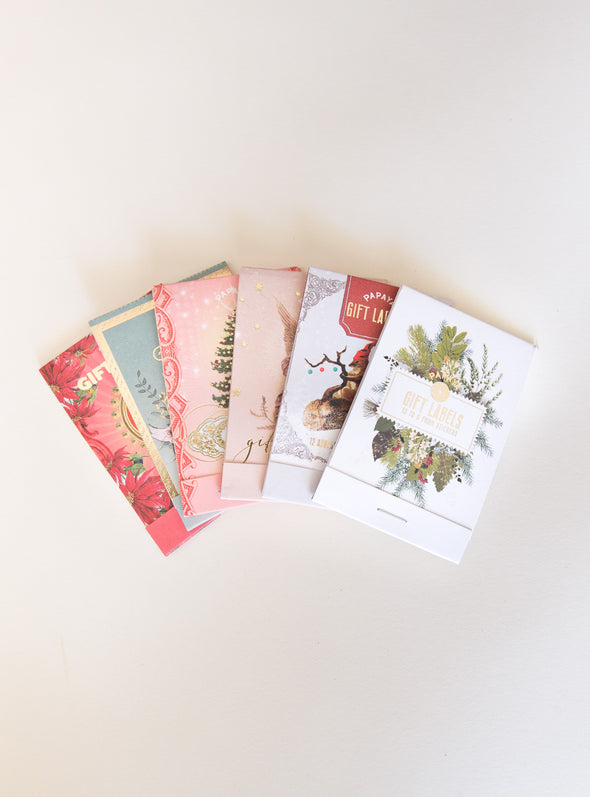 collection of gift labels