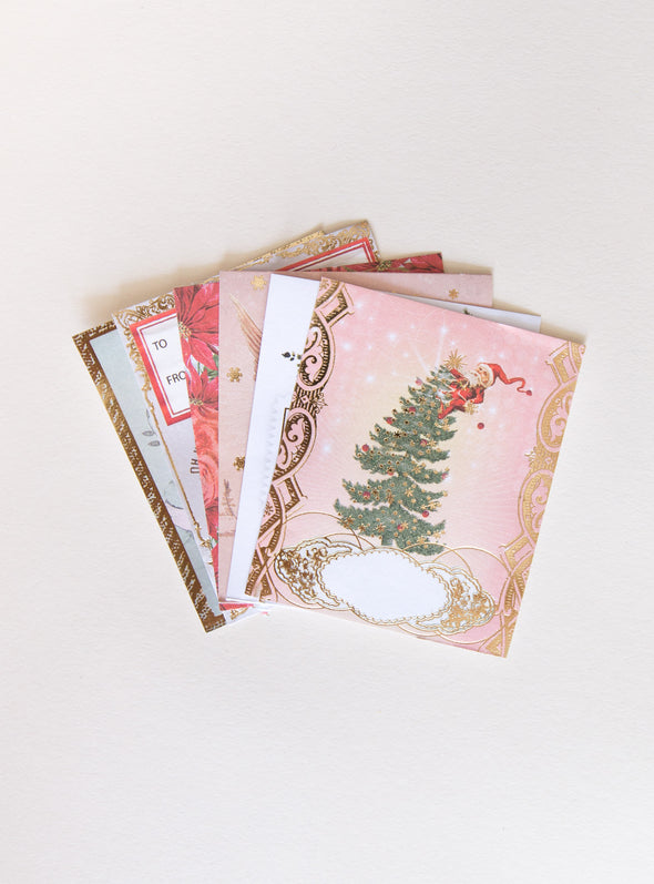 stack of gift labels