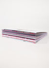 side view of greeting card stack