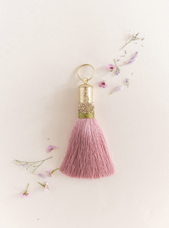 Stardust Tassel Key Chain collage