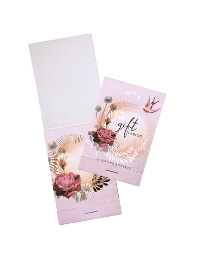 Gift Label, Lavender Rose