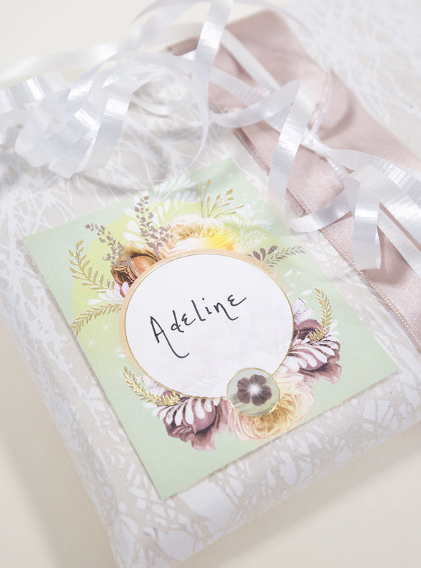 example of gift label on present