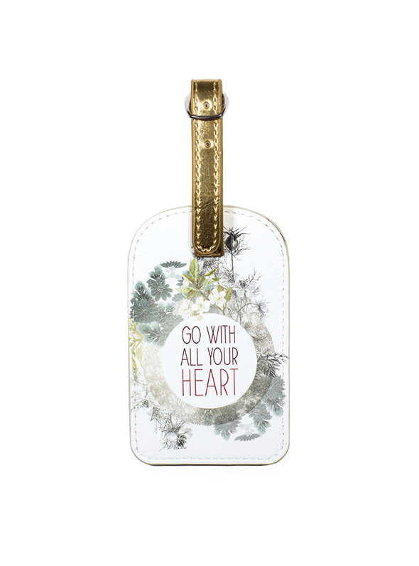 all your heart luggage tag front