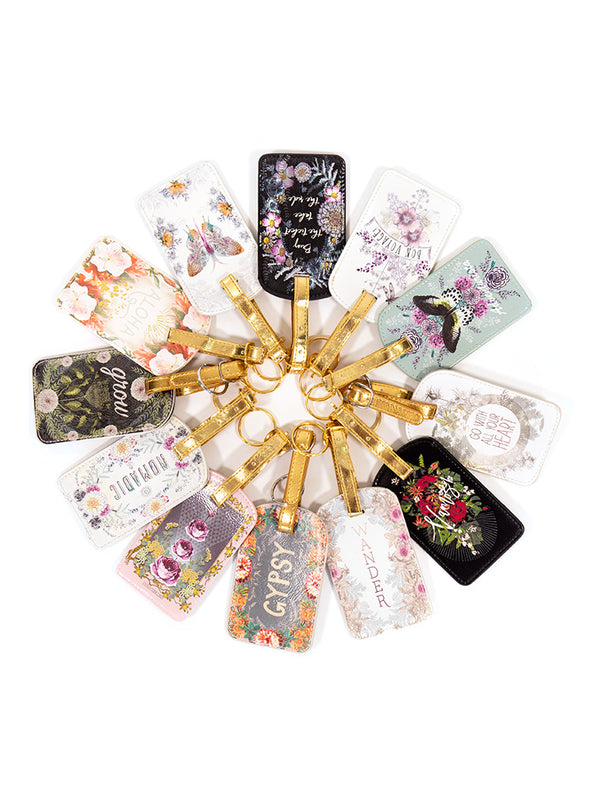 sunrise wreath luggage tag multiple designs