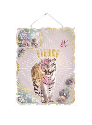 fierce tiger art print
