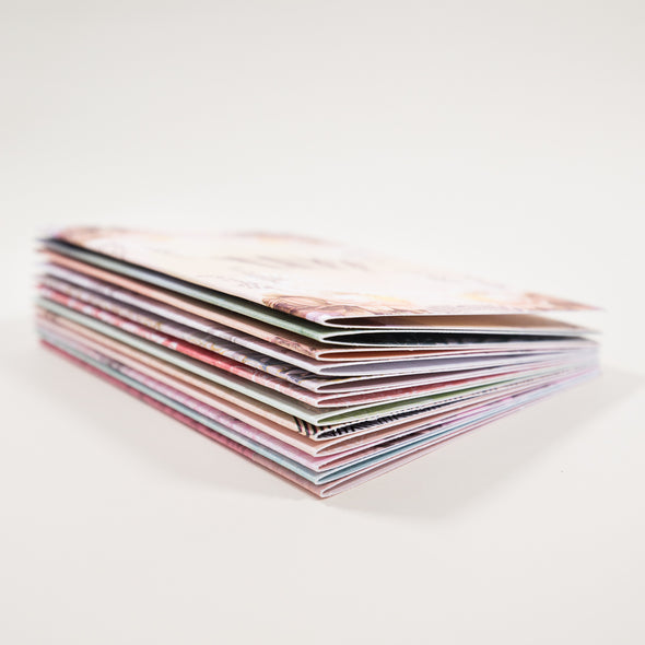 stack of mini cards