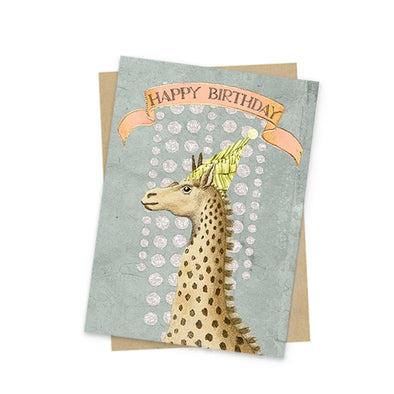 Mini Card, Birthday Giraffe