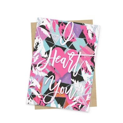 I heart you mini greeting card front