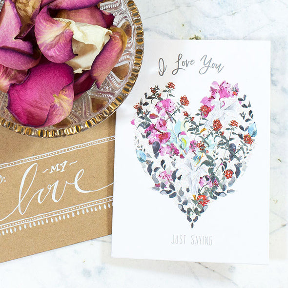 Just Saying Mini Card with flowers