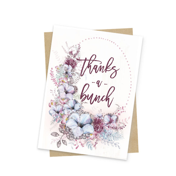 thanks a bunch mini greeting card front