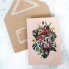floral fiesta mini greeting card styled