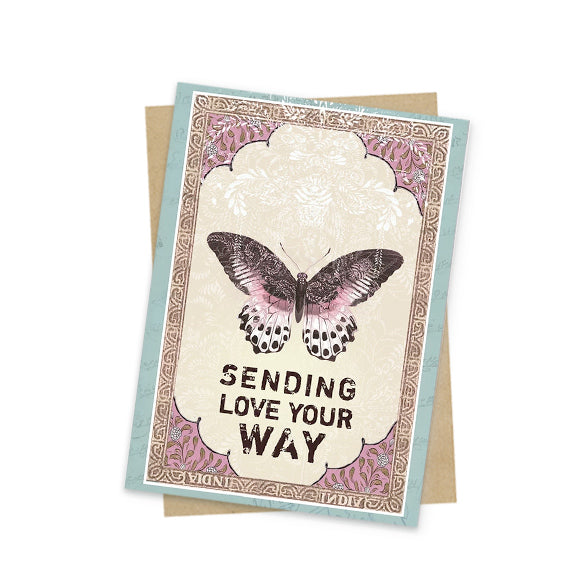 butterfly love mini greeting card front