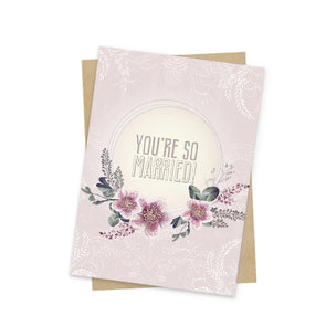 so married mini greeting card front