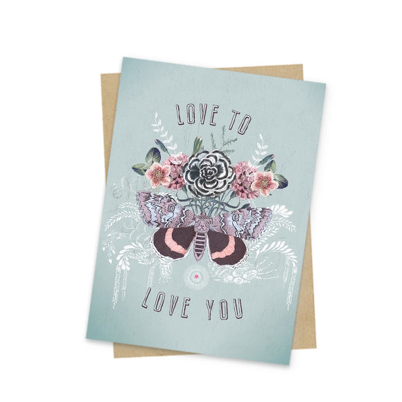 Love to love you mini greeting card front
