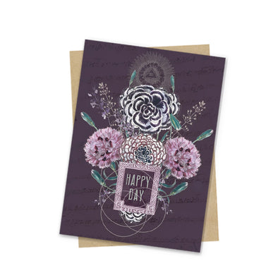 Mini Card, Happy Flowers