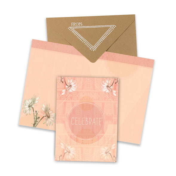 Celebrate Sun Mini Card with envelope