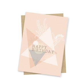 Mini Card, Geo Birthday