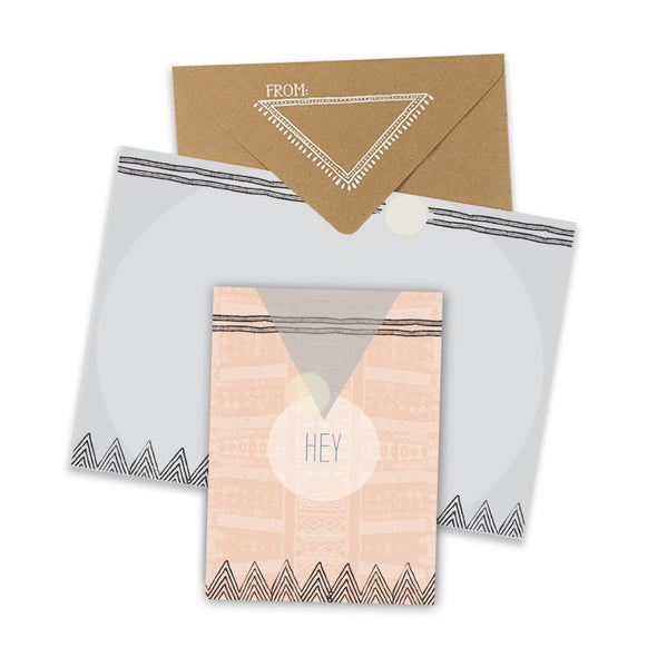 Tribal Hey Mini Card with envelope