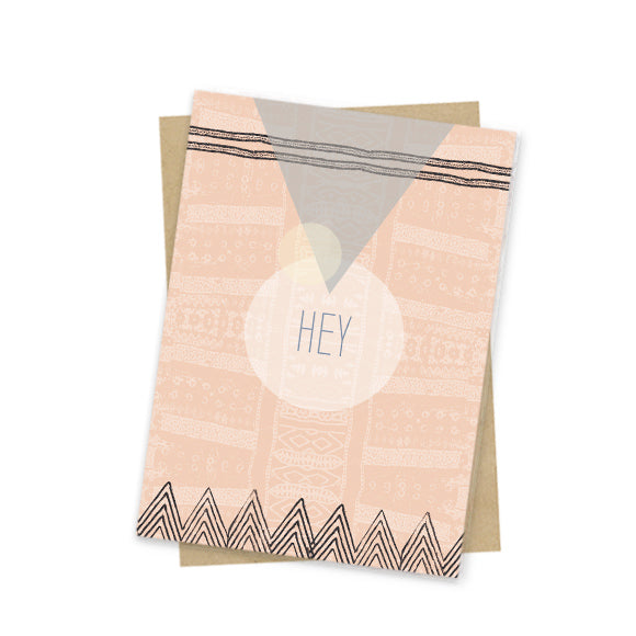 Tribal Hey Mini Card