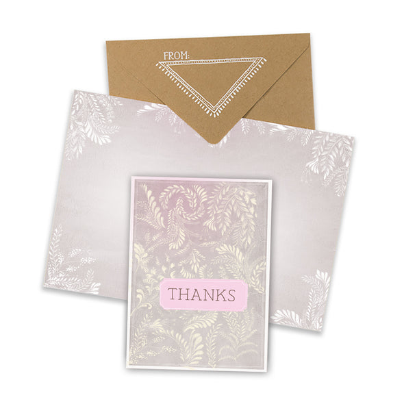 Thanks Flora Mini Card with envelope
