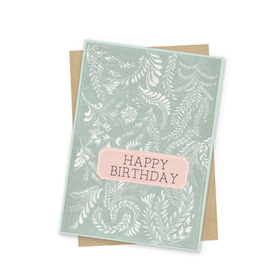 Mini Card, Birthday Flora